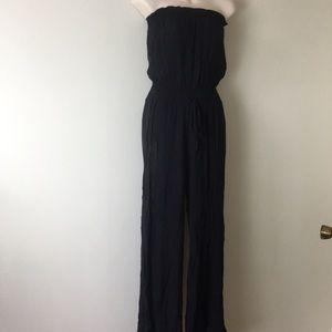 🍎Aerie strapless black jumpsuit